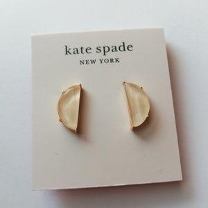 Kate spade half moon studs earrings